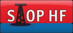 Logo STOP hydraulické těžbě břidlicových plynů